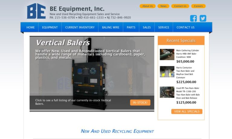BE Equipment, Inc.