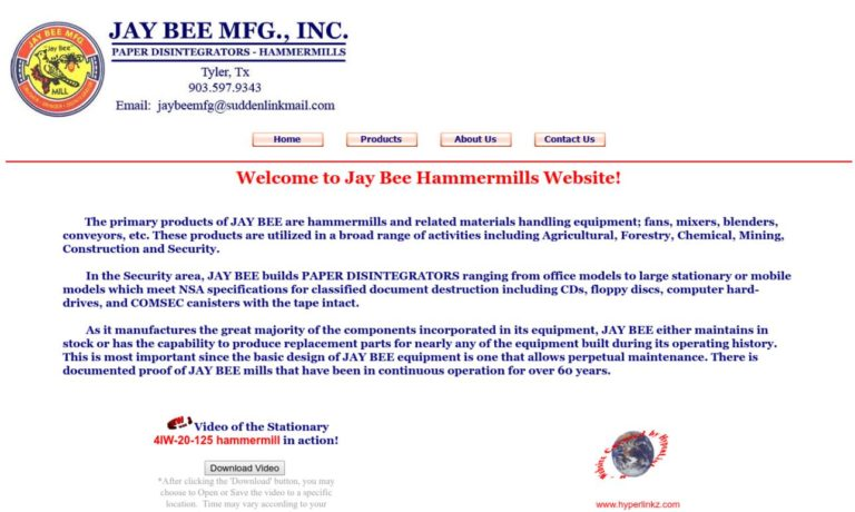 JAY BEE MFG., INC.